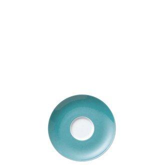 Thomas Sunny Day Soucoupe pour Tasse à Café 20 cl, Porcelaine, Turquoise, Passe au Lave-Vaisselle, 14,5 cm, 14741
