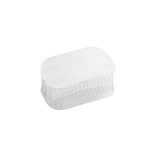 NAttnJf Manos libres para masticar el cepillo de dientes Mini portátil Lazy People 360 Degrees Dientes limpiador Transparent Color