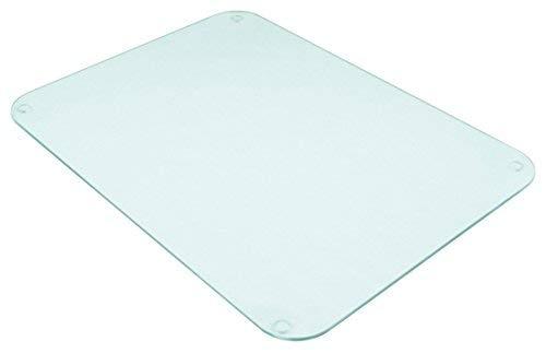 Tuftop 50cm x 40cm Glasschneidebrett, durchsichtig, glatte Oberfläche