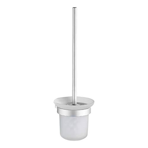 Zerama Nicht Schlags der Wand befestigte Toiletten Aluminum Handle Bürstenhalter Caddy-Glasschalen Badezimmer-Reinigungs-Tools Wc-caddy