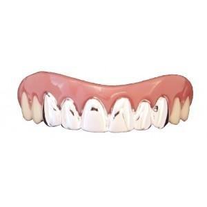 Billy Bob falsa Halloween dientes-Platinum Grillz