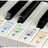 Pegatinas teclados 49/61/76/88 - Transparentes extraíbles