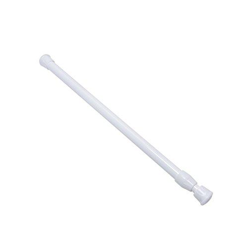 6SHINE Barras de Cortina de Ducha Extensibles Hierro Plástico Varilla telescópica Ajustable Versión Mejorada Polos Rieles Bastidores Barra antioxidante(30cm-50cmBlanco)