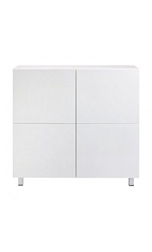 Générique Camino A CASA - Buffet Design 4 Portes laqué Blanc Impossible