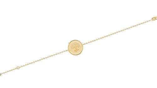 Tata Gisèle Syracuse-Armband, vergoldet, Baum des Lebens, Geschenkbeutel, Samt Syracuse-armband