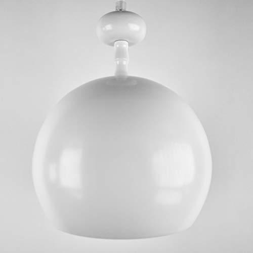 lounge-zone Pendelleuchte Pendellampe Hängeleuchte Küchenlampe Hängelampe Leuchte VERRE Blanc Bauhaus Kugel rund weiß matt Φ 20cm 13078