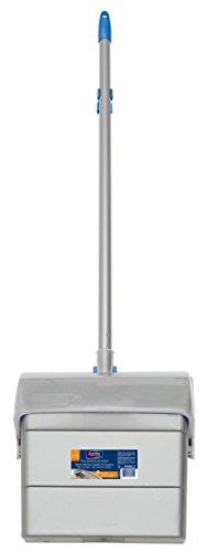 Spontex Set Recogedor y Escoba con Sistema Abre-Cierre Automático, Azul