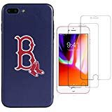 Sportula MLB Telefon Fall, für iPhone 7 Plus/iPhone 8 Plus (14 cm), passende 2 Premium Displayschutzfolie extra Value Set, Boston Red Sox -