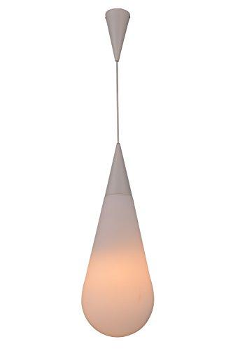 Milchglas Pendelleuchte (Deckenlampe Pendelleuchte Hängeleuchte Milchglas Opalglas Weiß Moderne Form von Design61)