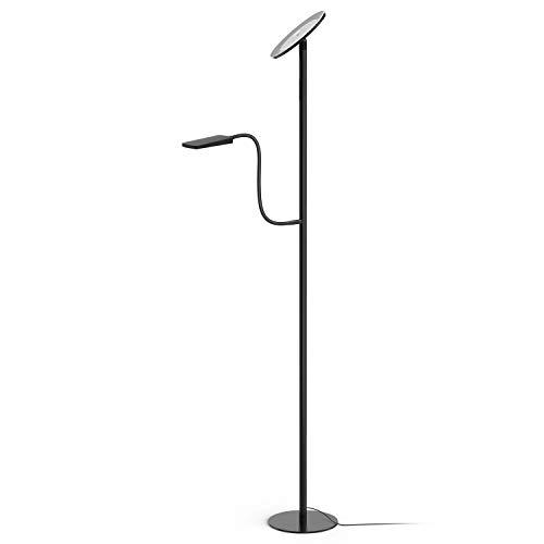 Avantica Lámpara pie LED lámpara lectura - Luz calida