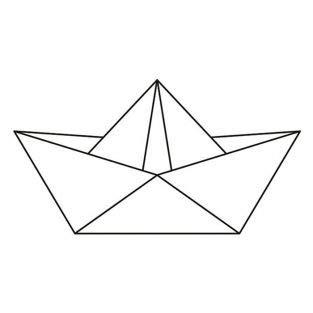 Artemio Holz Stempel 6,6 x 3,7 cm - Origami Boot (Origami Boot)