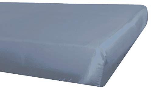beties Glanz Satin Spannbetttuch 140x200 cm Hausmittel gegen Gesichtsfalten 100{c02c651d74df9ebfcf0c8d40d0b1c8eab82ad76f1fe010b8c08bdbc0366a4712} Polyester (wählen Sie Ihren Kissenbezug + Bettbezug extra dazu) Farbe Silber grau