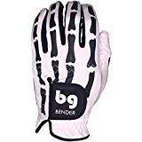 Bender Handschuhe Mesh Golf Handschuhe für Damen Cabretta Leder Easy-Grip Handschuhe Links getragen, White Bones, Small -