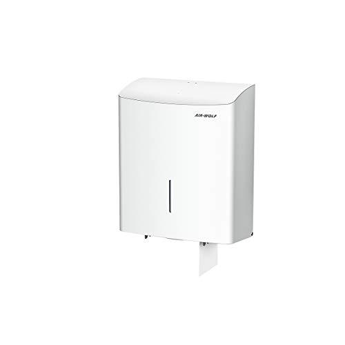 Duplex-Toilettenpapierspender - für 1 Großrolle oder 3 Haushaltsrollen - Edelstahl weiß -