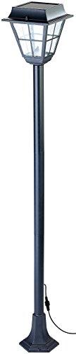 Lunartec Gartenlaternen: Hybrid Solar-LED-Wegeleuchte SWL-30 mit optional. Netzbetrieb (LED Laternen)