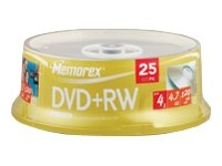 memorex-dvd-rw-120-minuten-47-gb-4x-boite-de-25-cds-00618-864614-25