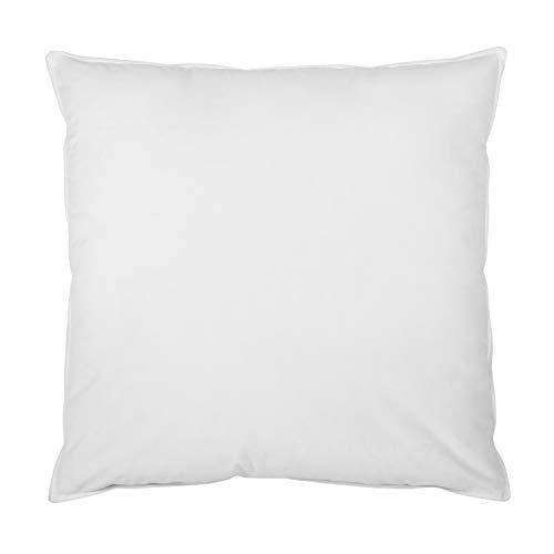 sleepling Feder- und Daunenkissen Kopfkissen, Bezug aus 100% Baumwolle, 80 x 80 cm, weiß