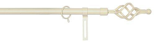 Verdelook zagabria, bastoni in metallo per tenda, 120x210 cm, bianco antico, tende tendaggi