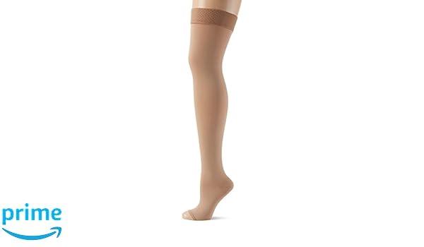 Womens Agh Halterlose Strümpfe Mit Mikrofasern, Klasse Ii, Offene Fußspitze Hold-up Stockings Relaxsan