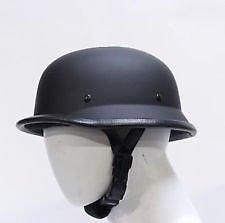 Delhitraderss German Style Motorbike Helmet-(Dull Black) For-Royal Enfield Standard 500 EFI
