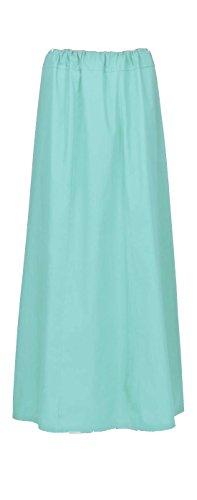 Maharanis Fairtrade Sari Unterrock 10 verschiedene Farben Einheitsgröße bis Gr. 44 weiss (Weiße Indische Sari)