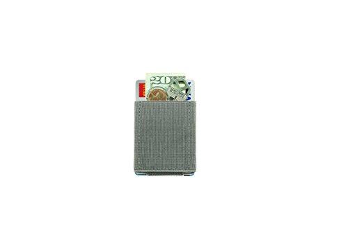 Nomatic Basic Wallet praktische Geldbörse für Männer und Frauen, minimalistisch und leicht, in verschiedenen Farben (Red) Grey