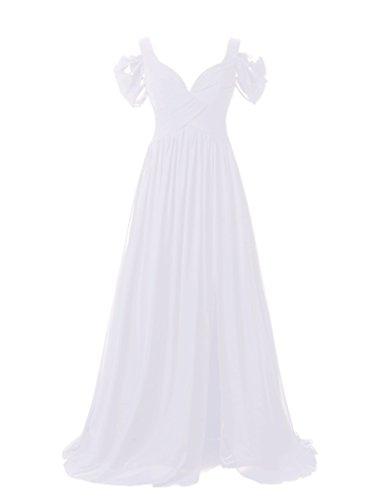 JYDress - Robe - Trapèze - Femme Blanc