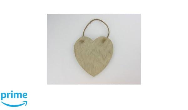 beige Artemio 14/x 13,5/cm Holzbrett Aufh/ängen Herz