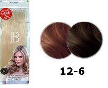 Balmain Fill-In Extensions Value Pack Natural Straight- 12/ 6, medium blond/ light mocca