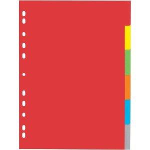 25 x Pagna Register A4 Karton 6-teilig blanko o. Deckblatt 6-farbig