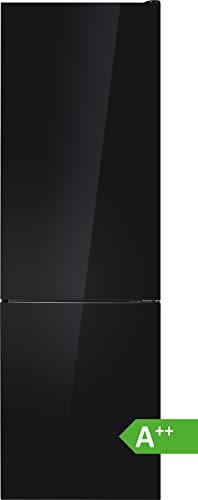 Bomann KG 7305 Kühl-Gefrierkombination/EEK A++ / Kühlen 181 L/Gefrieren 63 L/Höhe 178 cm/Breite 54,5 cm / 188 kWh/Jahr/Glas Schwarz glänzend