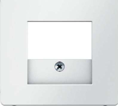 Preisvergleich Produktbild Hager Q.1polar–nimmt Zentralplatte TAE/rot weiß