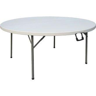 Bolero CC506 - Mesa redonda plegable al centro, 152 cm