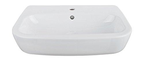 Waschtisch nugolO | 60 cm | Weiß | Waschbecken | Waschplatz | Keramik | Bad | Badezimmer | Mit Überlaufschutz