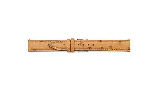 Cinturino di vero Struzzo compatibile per Jaeger le coultre (17-16, Cognac)