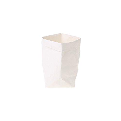 Sac en papier Kraft Shizuhatagayama lavable Multi Fonctions pour plantes et fleurs à pain de stockage de cadeau de fête de mariage, Papier Kraft, blanc, 20 cm