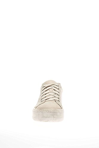 Nero Giardini P615261D Chaussures Femme-410 Baskets Mode Basse en Cuir Beige - Sabbia
