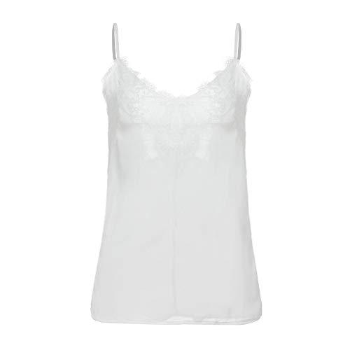 POLP Camisola Camiseta Tirantes Encaje Blusa Crop