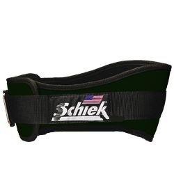 Schiek Sports Unisex Gürtel mit Bequemer Passform Rückenbreite 15 cm, Unisex-Erwachsene, Grün, Extra-Large -