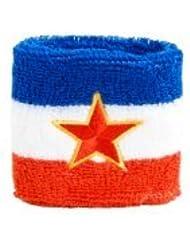 Digni® Poignet éponge avec drapeau Yougoslavie ancien