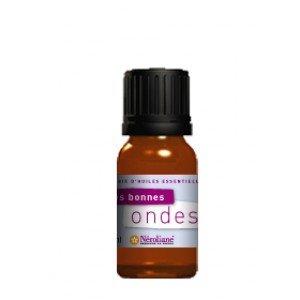 Synergie huiles essentielles : MES BONNES ONDES : Huiles essentielles de Citron, Coriandre graines, Palo santo, Lavandin abrial, Encens, Cèdre de l'Atlas