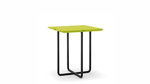 Möbel Akut ROLF Benz Beistelltisch Freistil 195 Kleeblatt 42 x 49 x 42 cm Tischplatte Kleeblatt avocadogrün Kufe schwarz
