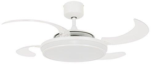 FANAWAY Ventilador de Techo LED, Blanco, 121x121x42 cm