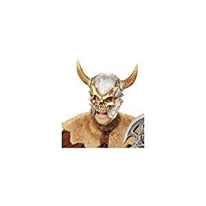 Maske Wikinger (Widmann 00411 Maske Wikinger mit Hörnern für Erwachsene,)