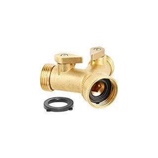 2-way Brass Hose Splitter