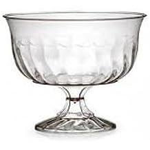 Elegante rígida de plástico tazas/vasos/cuencos de postre helado – Transparente con diseño