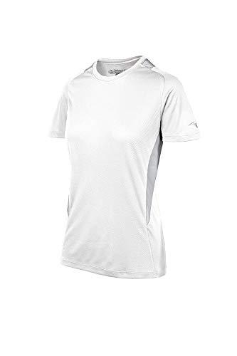Mizuno Fastpitch Softball Rundhals Jersey, Damen, Softball Crew Neck Jersey, White-Grey, Adult XXX-Large -