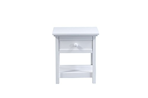 Forzza Atlantis Nightstand (White)