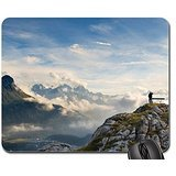 Bench on a mountain top Mouse Pad, Mousepad (Mountains Mouse Pad)