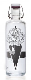Soulbottles 1,0l Trinkflasche aus Glas • Verschiedene Designs, Made in Germany, vegan, plastikfrei, Glastrinkflasche, Glasflasche (Nur die Eine)